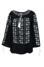 Bluza dama tip ie brodata traditionala Negru dae4984