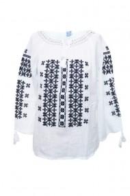 Bluza dama tip ie brodata traditionala Alb dae4986