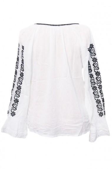 Bluza dama tip ie brodata traditionala Alb dae4987