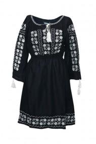 Rochie dama cu motive traditionale Negru DAE4993