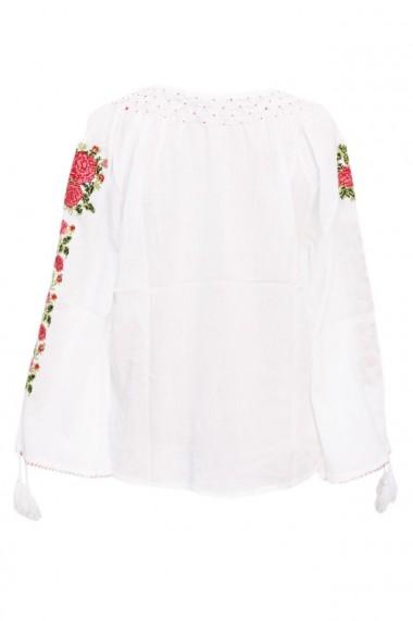 Bluza dama tip ie brodata traditionala Alb dae5206
