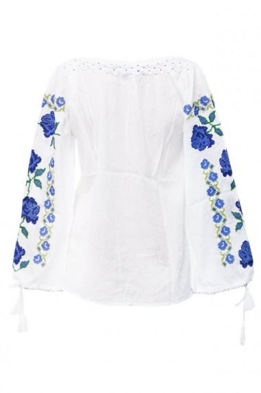 Bluza dama tip ie brodata traditionala Alb dae5214