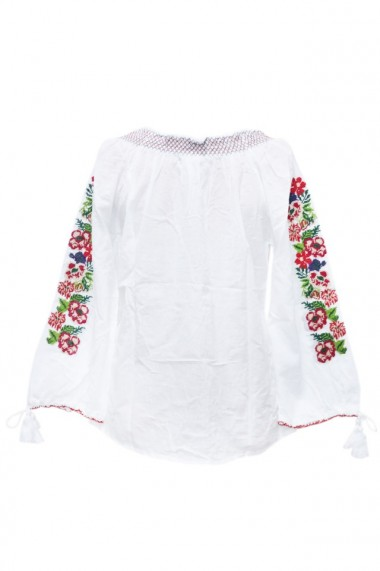 Bluza dama tip ie brodata traditionala Alb dae5764