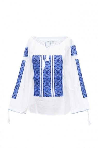 Bluza dama tip ie brodata traditionala Alb dae5765