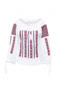 Bluza dama tip ie brodata traditional Alb dae5776