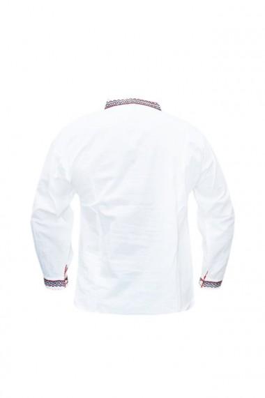 Bluza barbati tip ie brodata traditional Alb/Rosu DAE5794
