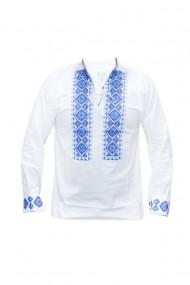 Bluza barbati tip ie brodata traditional Alb/Albastru DAE5795