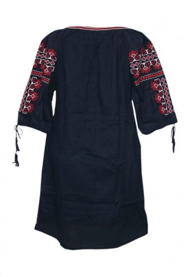Rochie dama cu motive traditionale Negru DAE6146