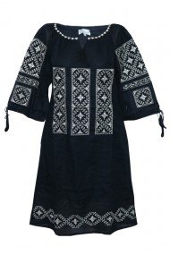 Rochie dama cu motive traditionale Negru DAE6151
