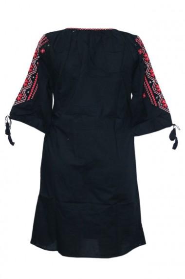 Rochie dama cu motive traditionale Negru DAE6152