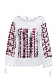 Bluza dama tip ie brodata traditional Alb dae6897
