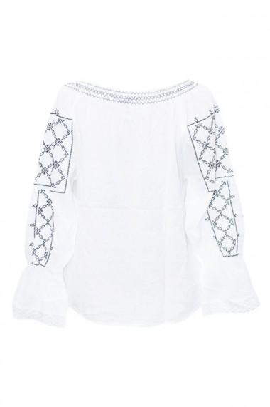 Bluza dama tip ie brodata traditional Alb dae7002