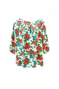 Bluza pentru dama din casmir cu imprimeu trandafiri multicolor DAE8071