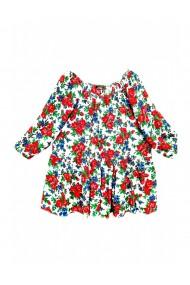 Bluza pentru dama din casmir cu imprimeu floral multicolor DAE8075