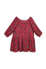 Bluza pentru dama din casmir cu imprimeu floral rosu DAE8077