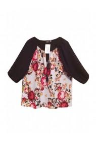 Bluza pentru dama din casmir cu imprimeu floral multicolor DAE8085