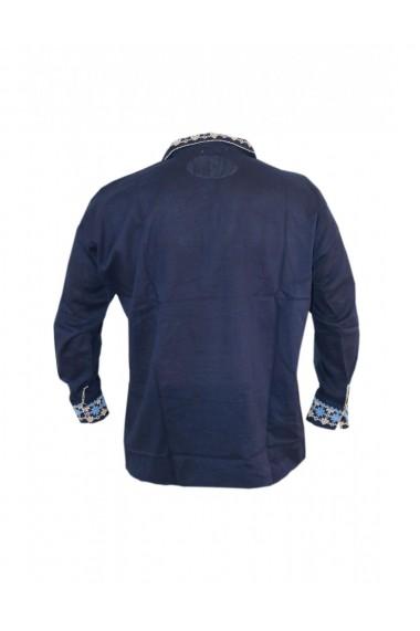 Bluza barbati tip ie brodata traditional Albastru marin DAE8120