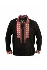 Bluza barbati tip ie brodata traditional Negru DAE8121