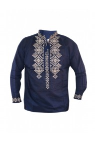 Bluza barbati tip ie brodata traditional Albastru marin DAE8123