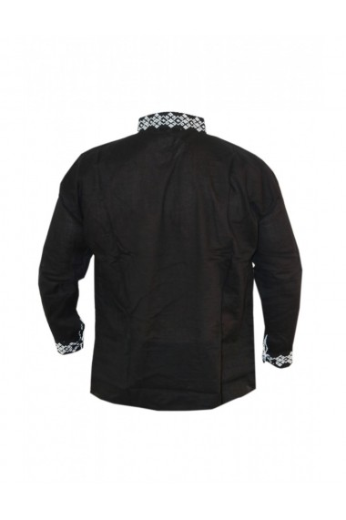 Bluza barbati tip ie brodata traditional negru DAE8124