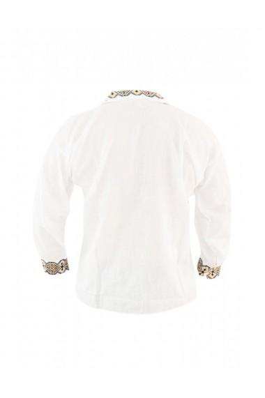 Bluza barbati tip ie brodata traditional alb DAE8125