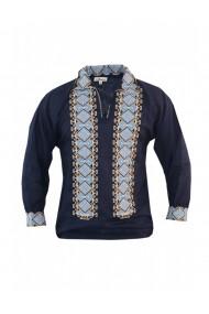 Bluza barbati tip ie brodata traditional Albastru marin DAE8126