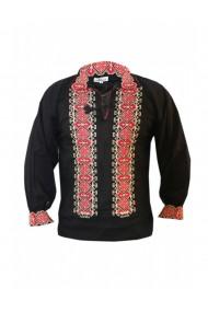 Bluza barbati tip ie brodata traditional Negru DAE8127