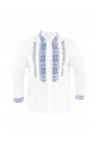 Bluza barbati tip ie brodata traditional Alb DAE8128