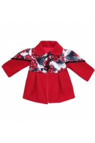 Palton din lana pentru fete rosu dae8265