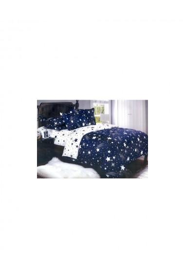 Lenjerie de pat cu stelute bumbac satinat 220x230 cm 6 piese DAE8131