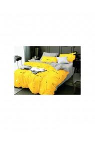 Lenjerie de pat cu stelute bumbac satinat 220x230 cm 6 piese DAE8133