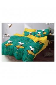 Lenjerie de pat pentru copii model catel bumbac satinat 220x230 cm 6 piese DAE8143
