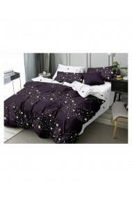 Lenjerie de pat cu stelute bumbac satinat 220x230 cm 6 piese DAE8145