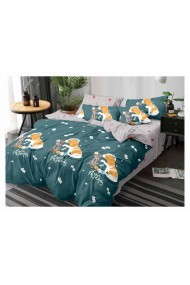 Lenjerie de pat pentru copii lovely friends bumbac satinat 220x230 cm 6 piese DAE8155
