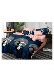 Lenjerie de pat good night-pisicute bumbac satinat 220x230 cm 6 piese DAE8162
