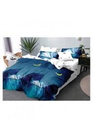 Lenjerie de pat cu lebede bumbac satinat 220x230 cm 6 piese DAE8373