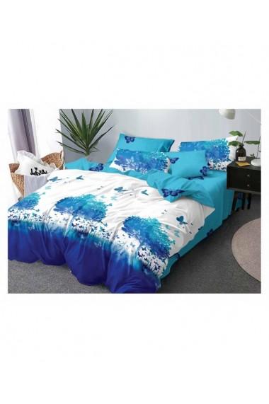 Lenjerie de pat cu fluturi 220x230 cm 6 piese DAE8388