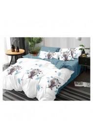 Lenjerie de pat cu model-pana 220x230 cm 6 piese DAE8390