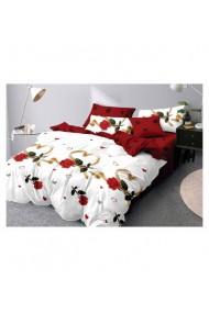 Lenjerie de pat cu trandafiri si inimi 220x230 cm 6 piese DAE8391