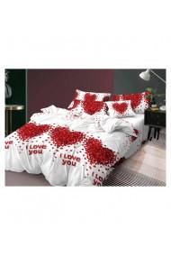 Lenjerie de pat-I Love You 220x230 cm 6 piese DAE8395