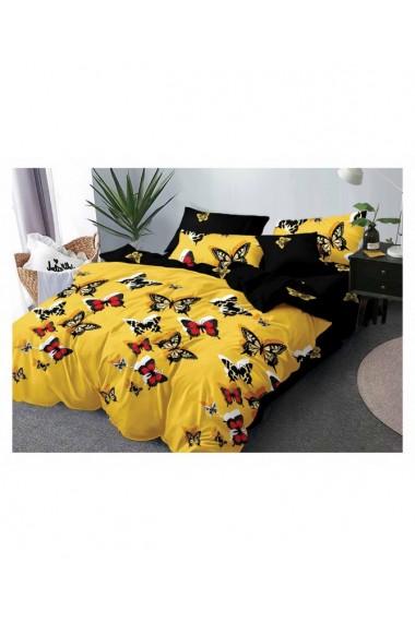 Lenjerie de pat cu fluturi 220x230 cm 6 piese DAE8399