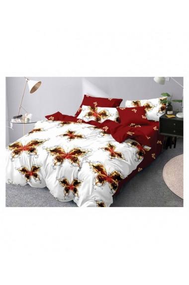 Lenjerie de pat cu fluturi 220x230 cm 6 piese DAE8401