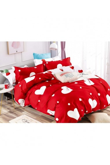 Lenjerie de pat cu inimi-Love 220x230 cm 6 piese DAE8409