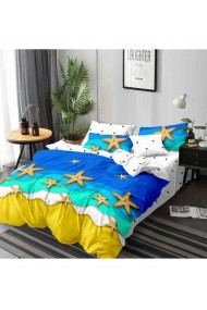 Lenjerie de pat cu stea de mare 220x230 cm 6 piese DAE8415