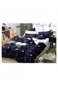 Lenjerie de pat pentru copii cu planete 220x230 cm 6 piese DAE8423