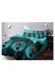 Lenjerie de pat pentru copii cu pisicute 220x230 cm 6 piese DAE8426