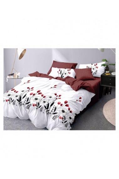 Lenjerie de pat cu flori-lalele 220x230 cm 6 piese DAE8428