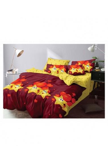 Lenjerie de pat pentru copii cu stelute 220x230 cm 6 piese DAE8429