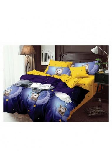 Lenjerie de pat pentru copii cu ursulet 220x230 cm 6 piese DAE8558