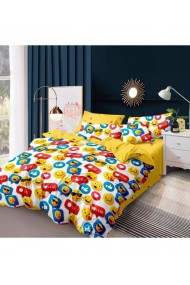 Lenjerie de pat cu emoticoane 220x230 cm 6 piese DAE8568